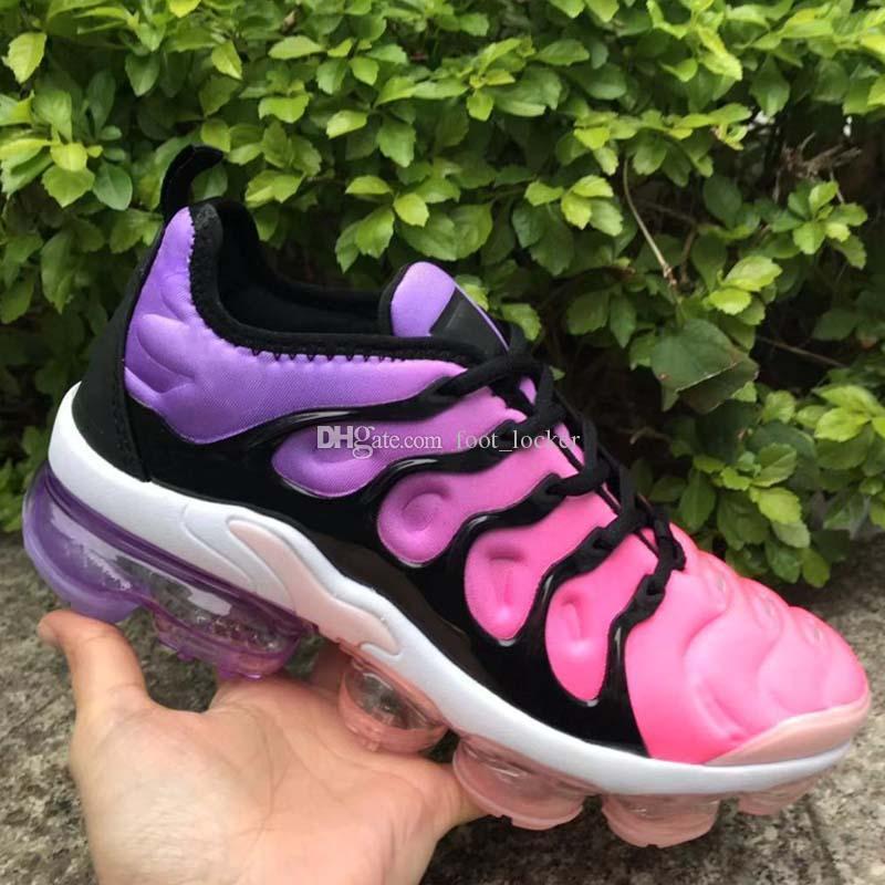 Date 2019 Pas Cher TN Plus Femmes Chaussures De Course Blanc Rose Pourpre Fille raisin Femmes Sportives En Plein Air Baskets Baskets