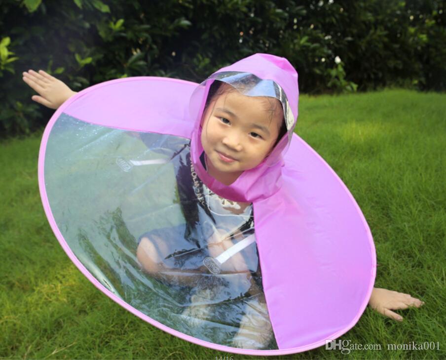 Çocuklar İçin Açık şeffaf pelerin tarzı yağmurluk Karikatür rainwear
