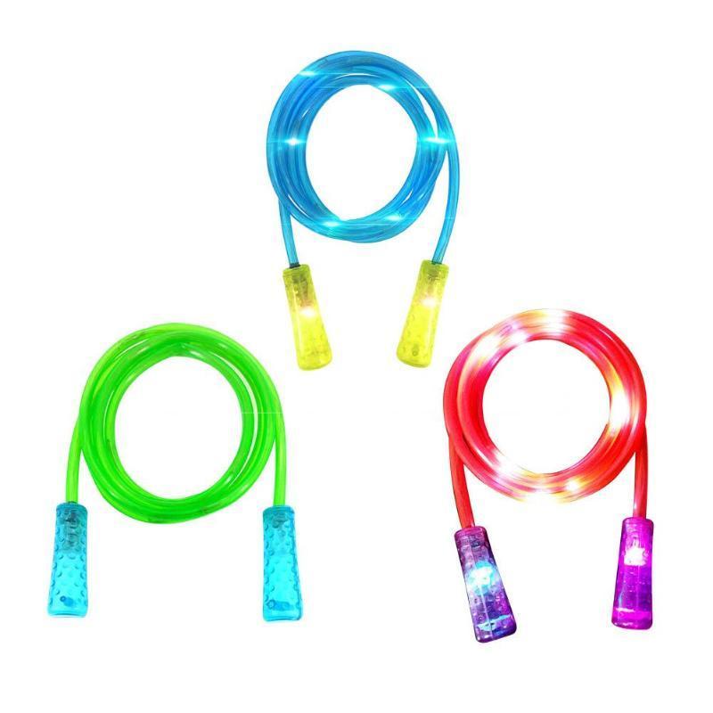 La luz LED Cuerdas de Saltar la cuerda de salto para el hombre mujer niños velocidad de cardio del gimnasio de fitness Ejercicio comba de la Cruz Fit entrenamiento