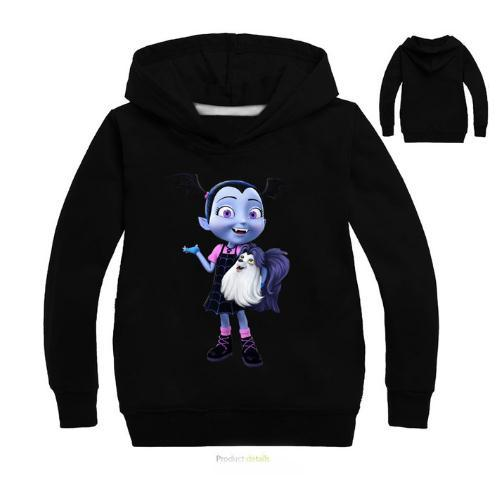 Girls Kids Vampirina Cartoon Sweatshirts Hoodies Shirt Tee Spring Fall Clothing