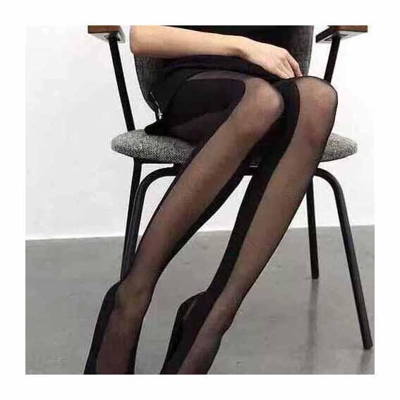 Günlük çorap Yeni Tasarımcı Splice Çorap Bayan Marka Tayt Katı Renk Üzeri çorap 2020 Yeni Toptan Perspektif Çorap Womens