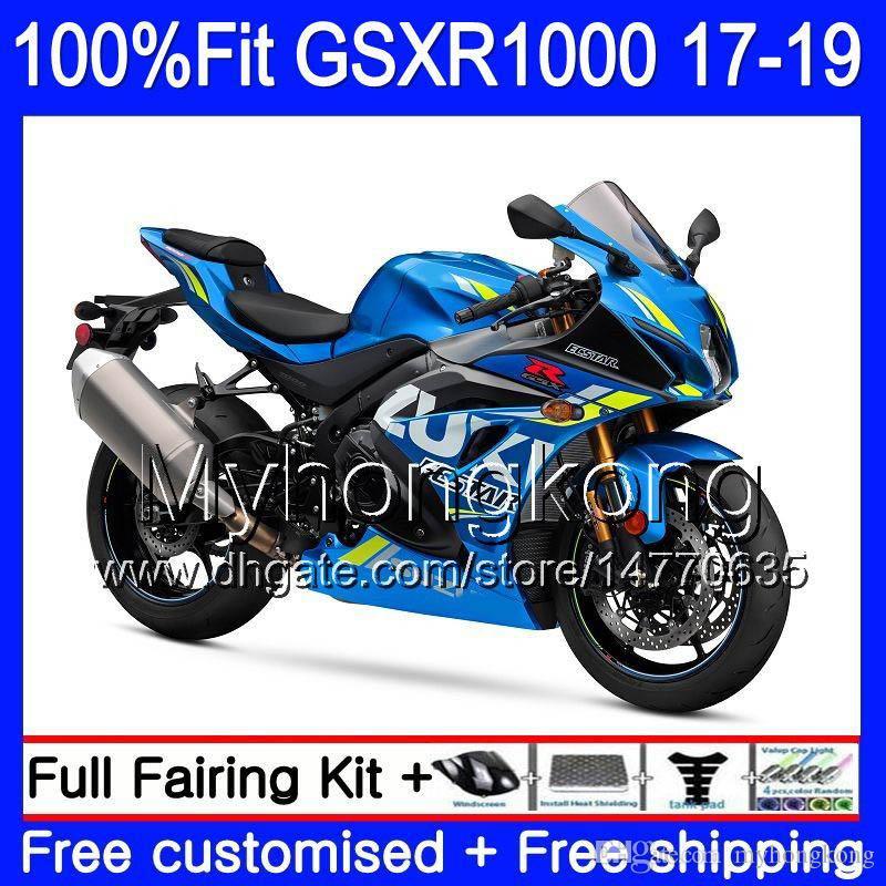 Injectie voor Suzuki GSX-R1000 GSXR-1000 K17 GSXR 1000 17 18 19 331HM.0 GSX R1000 L7 L8 GSXR1000 2017 2018 2019 Backings Kit Factory Blue
