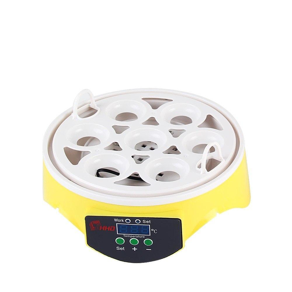 7PCS Oeufs automatique volaille Mini incubateur Contrôle de la température automatique Volaille automatique Couveuse Turning poulet incubateur