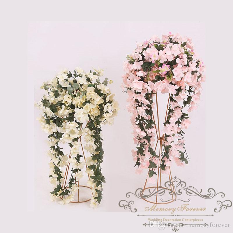 50cm 70cm Tall Flower Stand Wedding Decoration Metal Walkway Pillar Flower  Centerpiece Tall Vase For Table Church Wedding Decoration Ideas Elegant