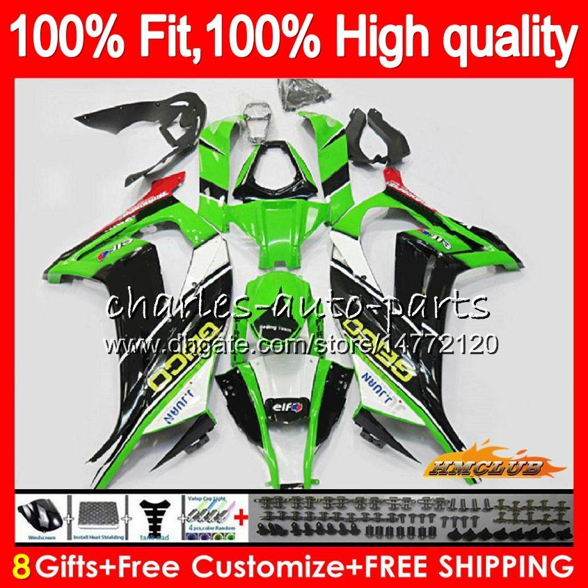 Injection For KAWASAKI ZX 10 R ZX1000 C ZX10R 11 12 13 14 15 46HC.7 ZX 10R 1000CC ZX-10R 2011 2012 2013 2014 2015 OEM stock green Fairing