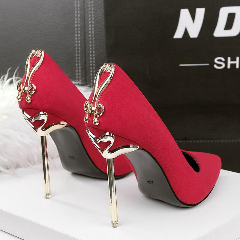 8 cm 10.5 cm damas tacones altos mujeres vestido de fiesta de boda zapatos bombas stiletto sexy mujer 2021 punta puntiagudo negro fondo rojo de lujo