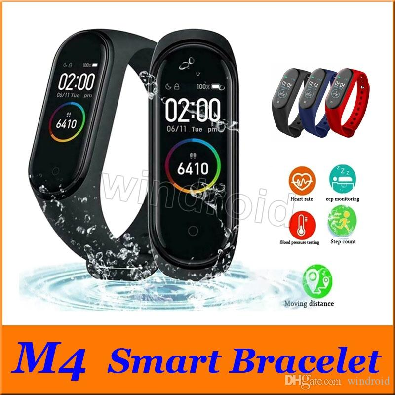 Cheapest M4 Fitness Smart Bracelet IP67 waterproof Heart Rate Monitor Sleep monitoring smartwatch Wristbands Detachable colorful