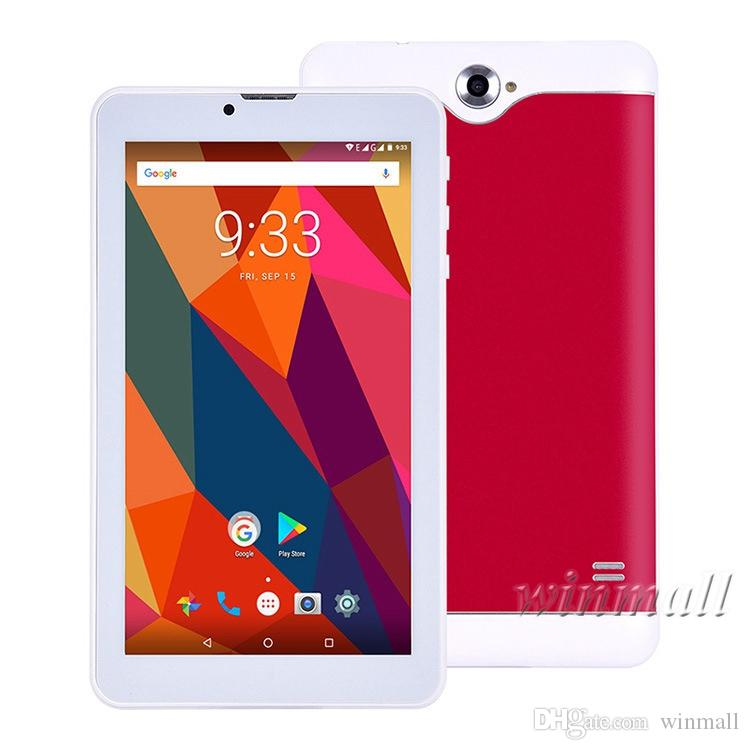 7 inch Quad Core 3G Tablet PC IPS Screen 1GB/8GB Android 7.0 Wifi GPS Bluetooth Dual SIM Card Phone Tablet