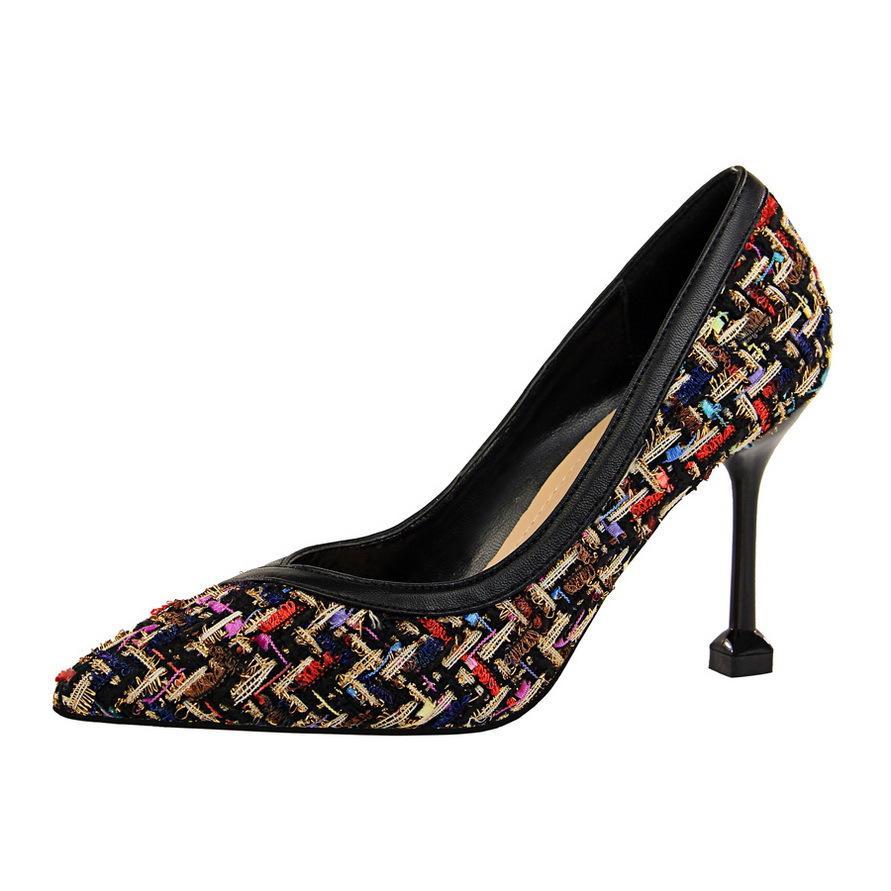 Güzel Bahar Topuk Yüksek Topuklar Sandalet Lady Classics Ayakkabı Seksi Kadınlar Partisi Ayakkabı 268-1 pompaları