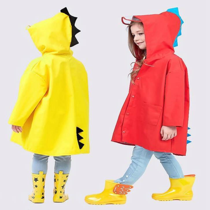Waterproof Kids Long Hooded Rainsuit Rain Poncho Children Raincoat Jacket Cover