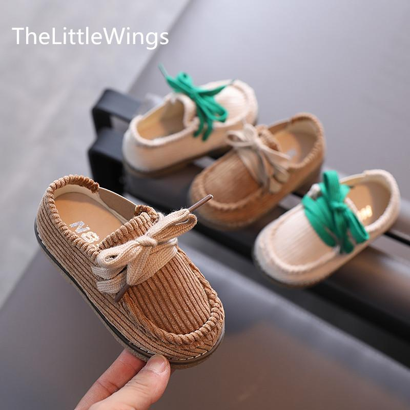 Children's corduroy shoes autumn 2020 new boys retro girls casual cotton shoes 1-3 years old Super soft and comfortable