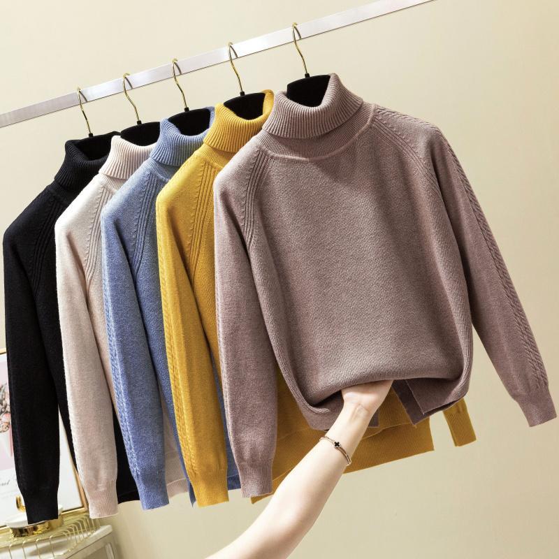 Camisola Feminino 2019 Outono Inverno Cashmere malha Mulheres suéter e pulôver Feminino Tricot Jersey Jumper Pull Femme