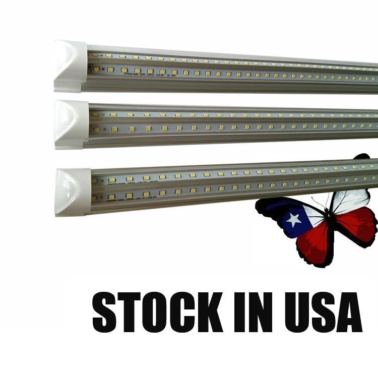 통합 LED 튜브 4FT 오 피트 6FT 8 피트 LED T8 52W 72W LED 튜브 라이트 V 모양 형광 튜브 조명 칼라 박스 포장 CRESTECH