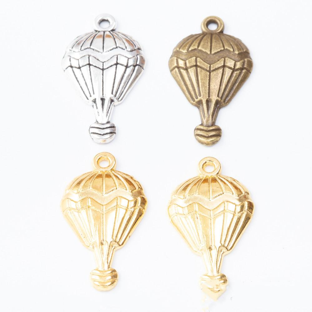 29mm Silver Yellow Plated Parachuter Pendant