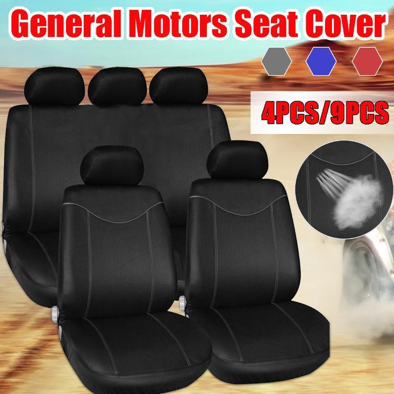 Car housses de siège pour 5/2 Sièges auto universel Coussin de protection du siège arrière Couverture avant Intérieur Accessoires pour véhicules Styling