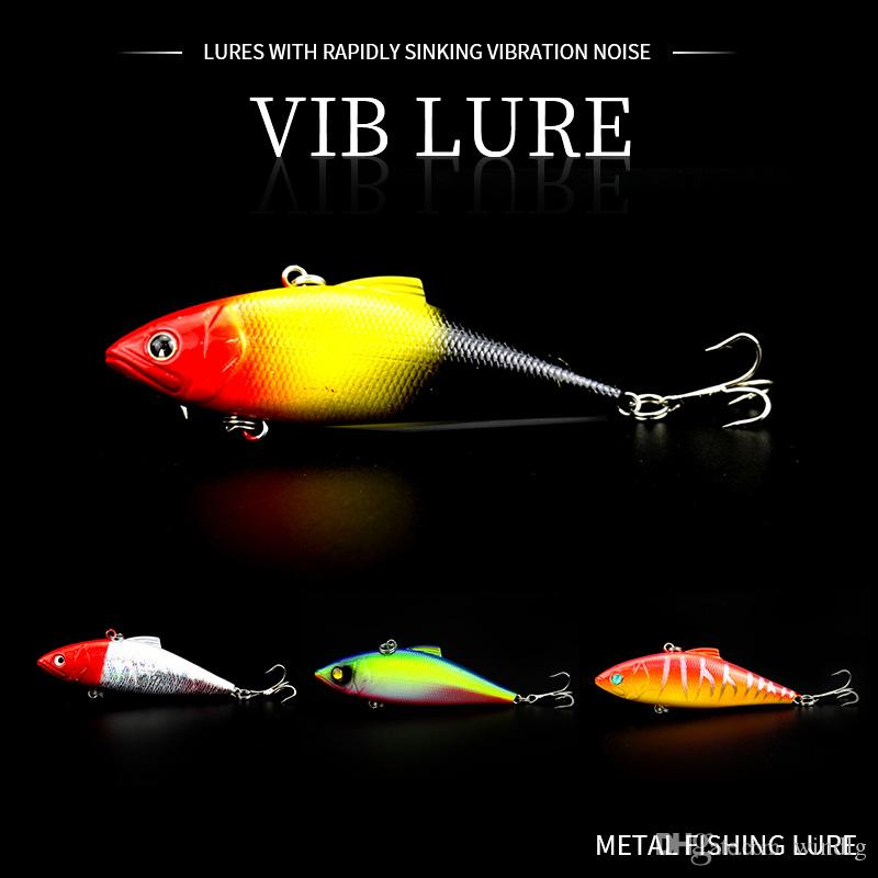 HENGJIA 1PCS Metal VIB Lures 8.5cm 11.2g Vibrations Spoon Lure Fishing Bait Bass Artificial Bait Cicada Lure Vib Bait