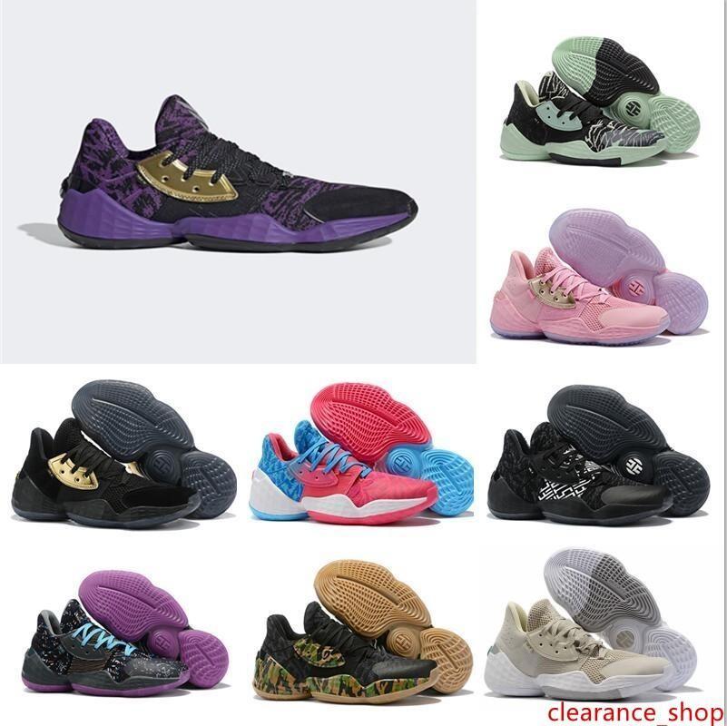 New James Harden Vol.4 Lightsaber BHM Vol. 4 Basketball Shoes for Mens Pink Lemonade Barbershop 4s Vol4 Mens Sports Sneakers Size 7-12