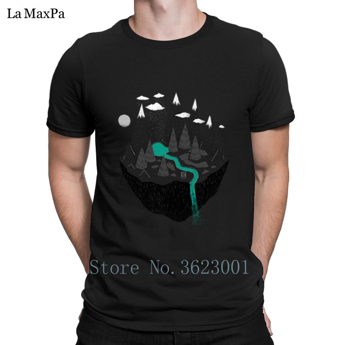 Personality-Freizeit-T-Shirt für Männer Floating Island-T-Shirt der Männer Street T-Shirt Einzigartige Männer-T-Shirt plus Größe Interesting