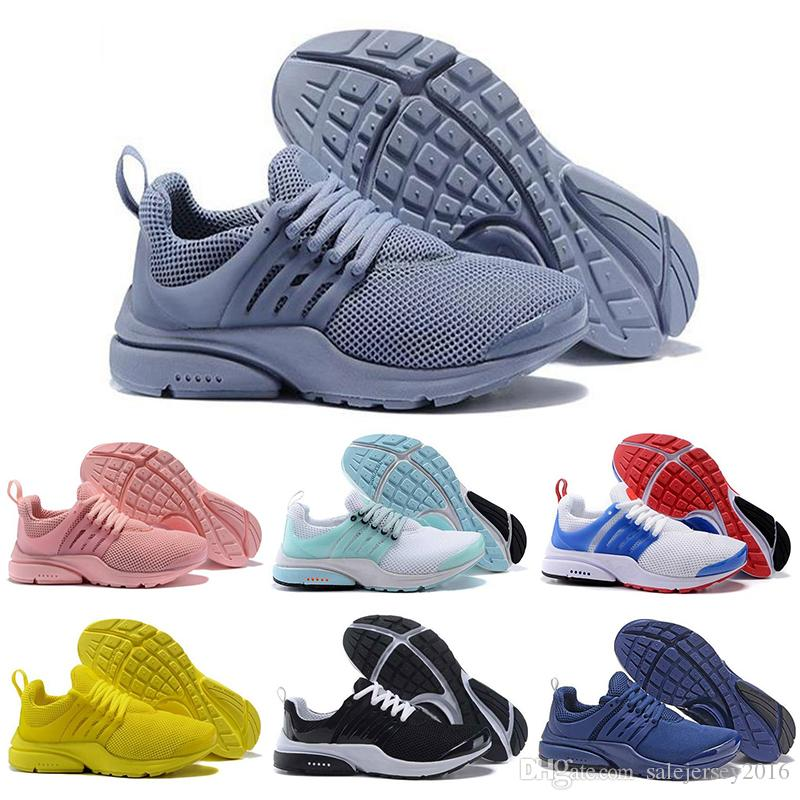 2019 Yeni Presto Chaussures Tasarımcı Erkekler Kadınlar Üçlü Siyah Beyaz Mavi Mens zapatos Nefes Spor Sneaker Boyut 36-45 Koşu ayakkabıları