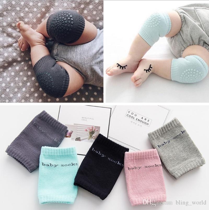 Детские наколенники ползающие подушка локтя хлопчатобумажные детские носки для малышей грелка для ног с подогревом для колена протектор ребенка наколенник 8 цветов YW3870