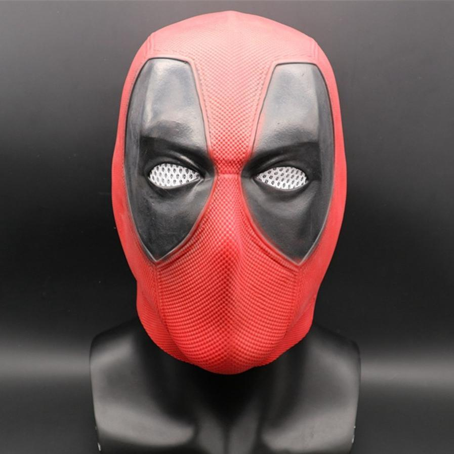Superhero Deadpool 2 Full Head Latex Mask Halloween Cosplay Party Red Mask Costume Props Halloween Gift
