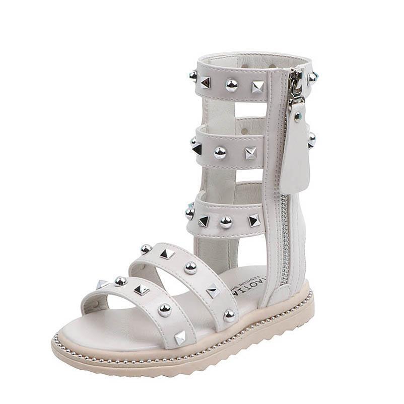 filles rivets mode des sandales spartiates enfants Chaussures enfants chaussures de marque filles chaussures enfants sandales B1624 détail