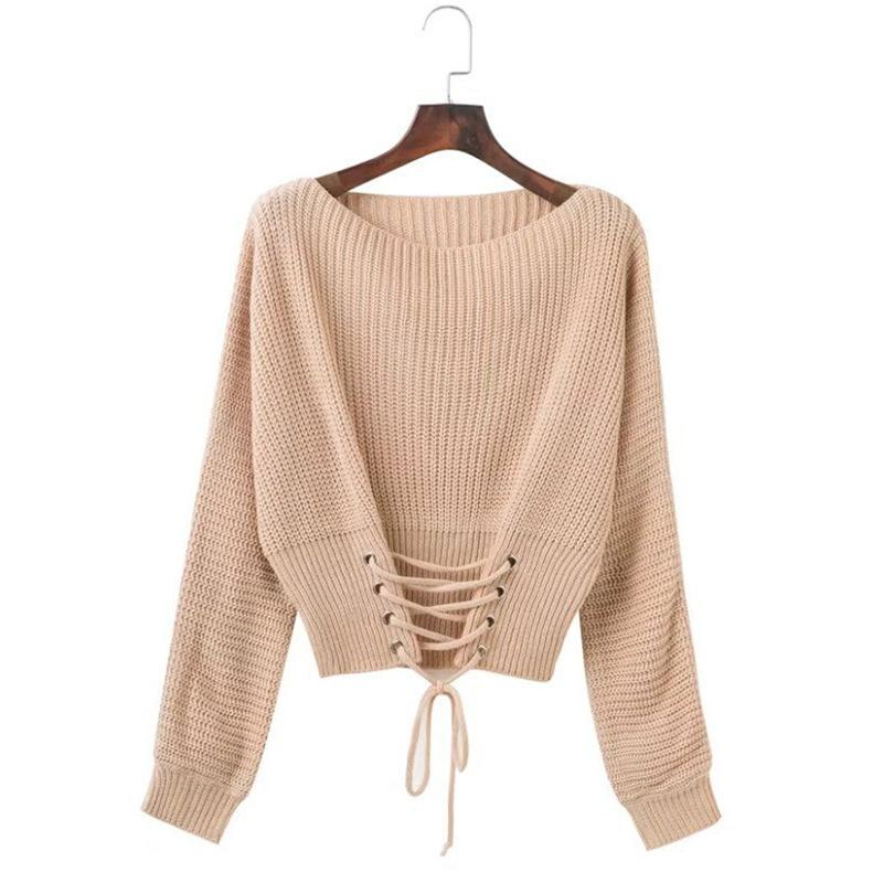 2020 Oversized Sweater 2019 Girls Cute O Neck Computer Knitted Lace Up Plus Size Harajuku Korean Women Sweaters Pullover Mama From Hiverc 26 48 Dhgate Com