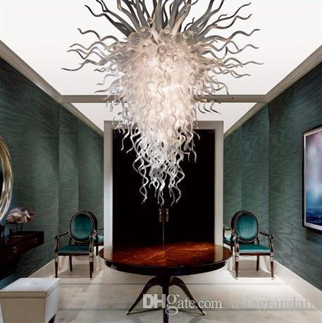 100٪ الفم في مهب CE UL البورسليكات زجاج مورانو كيلي دايل الفن الجديد وصول مكتب ضوء السقف