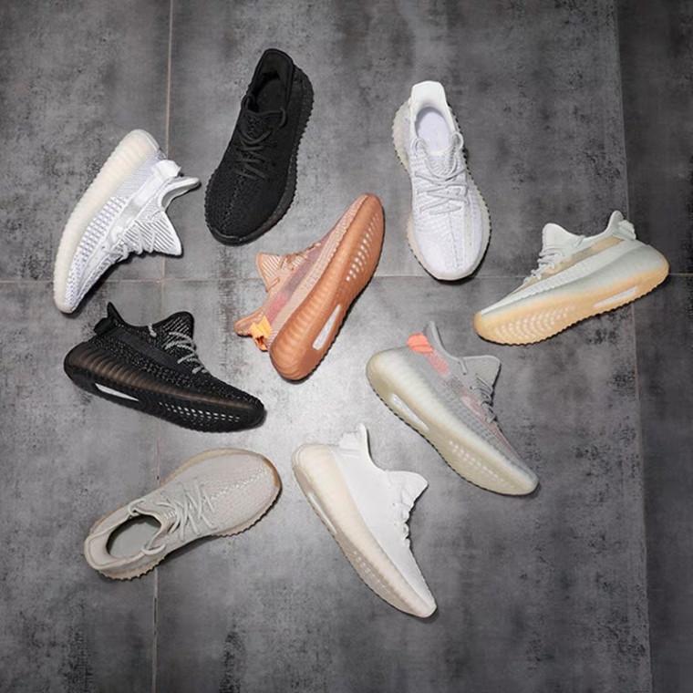 Kanye West Citrin GID Negro estático reflexiva de los zapatos corrientes de los hombres de las mujeres Antlia v2 cebra Lundmark crema Synth arcilla deportivas zapatillas de deporte