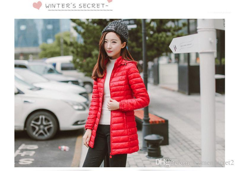 Candy Color Women Stand Collar Anorak Female Parkas With Zipper Fly Winter Female Fashion Down Cotton Casual