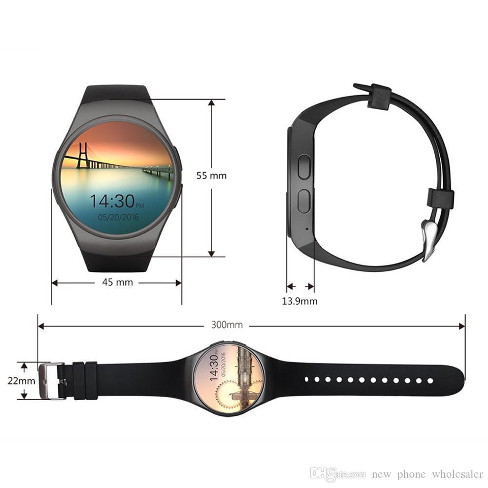 KW18 Akıllı İzle Tamamen Ekran Yuvarlak Bluetooth Reloj Inteligente Akıllı Bilezik ile SIM Kart Yuvası Nabız Karşıtı Kol kaybetti