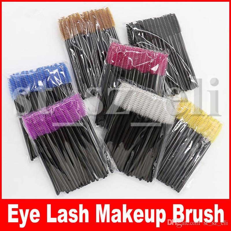 52 colors Disposable Eyelash Brush Lip Brush Lash Extension Mascara Applicator Eyelash Brushes Mascara Wands Cosmetics Make Up Tool