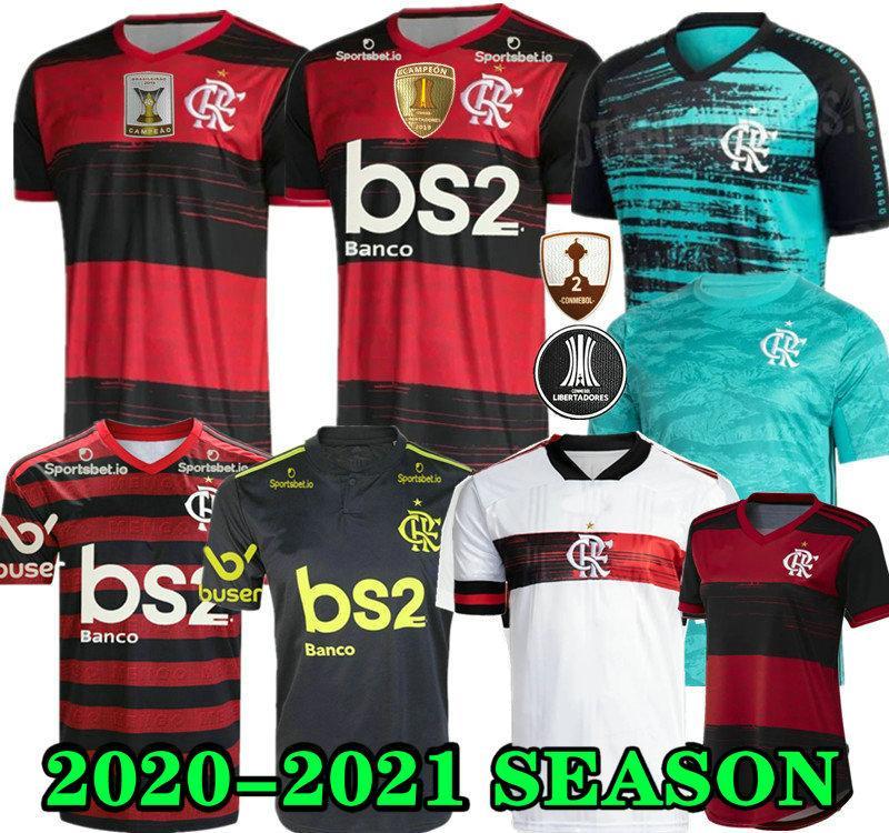 20 21 Maglia 2020 2021 fiammingo GUERRERO DIEGO Vinicio JR maglie calcio Goleiro Flamengo GABRIEL B di calcio sport camicia uomo donna Flamengo