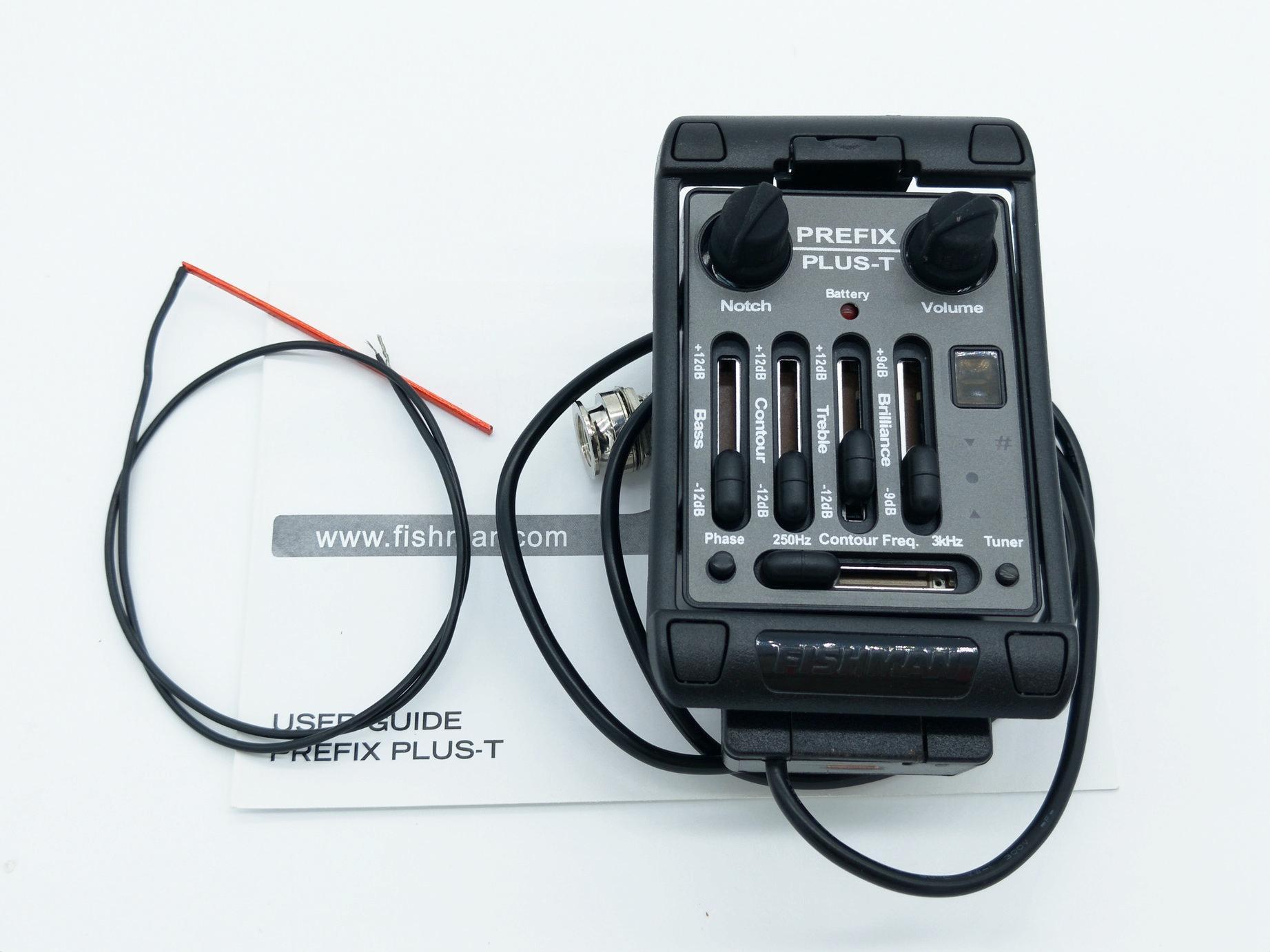 Acoustic Prefix Plus-T Onboard Preamp Matrix Pickup EQ Kostenlose Gitarre Kabelbatterie