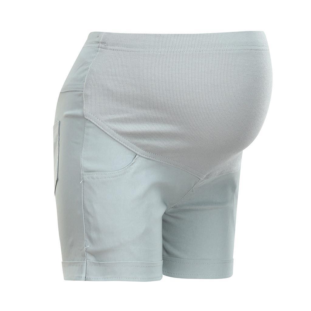 Günlük analık kısa pantolon gebelik şort hamile kot Annelik şort Sonbahar göbek kot pantolon Gevşek Kısa Pantolon