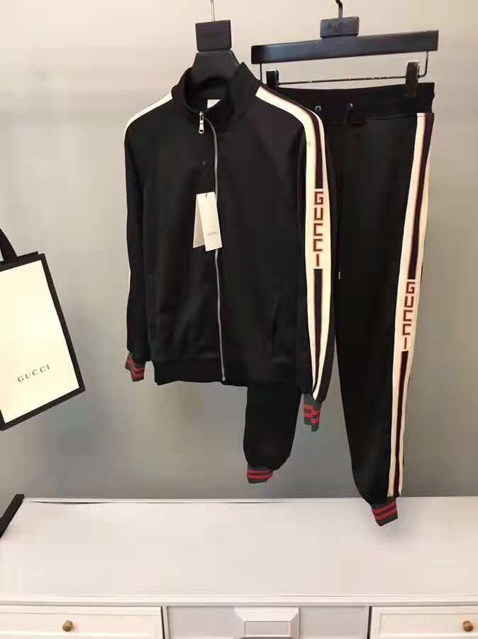 2018ss marca designer dos homens de jogging vermelho verde listrado fatos de treino carta impressão zipper fatos de treino para homens jaqueta camisolas