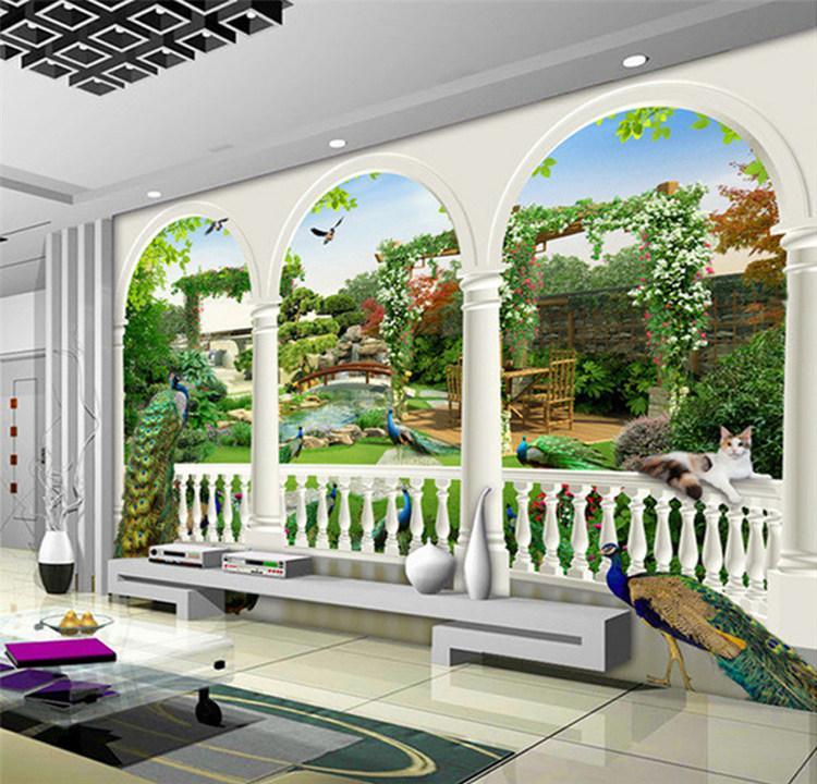 Пользовательские 3D фото обои европейский стиль Павлин фреска высокое качество гостиная кабинет Классические обои Papel De Parede 3D
