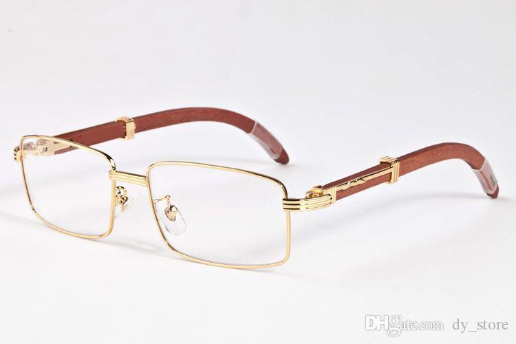 óculos escuros de grife marca para chifre homens mulheres búfalo óculos madeira armação de metal de madeira de prata de ouro sol óculos vêm com caixas