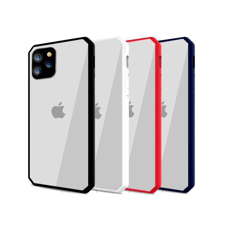 New for iphone 11 pro x xr xs max 8 7 6 plus cell phone case frame bumper pc tpu transparent back case cover for samsung S9 S10 PLUS