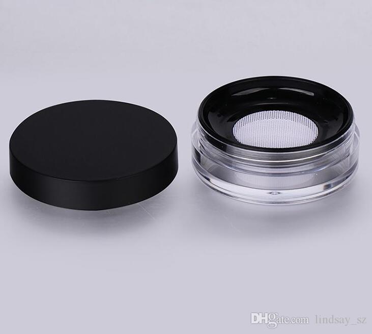 10g Kunststoff Leere Pulver Fall Gesicht Pulver make-Up Jar Travel Kit Rouge Kosmetik make-Up Container LX1520