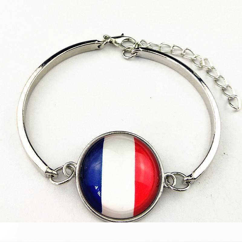 1pc France,United States,Brazil,Portugal,Germany,Italy,England,Spain,Algerian,turkey,Nigeria flag Bangle women men bracelets