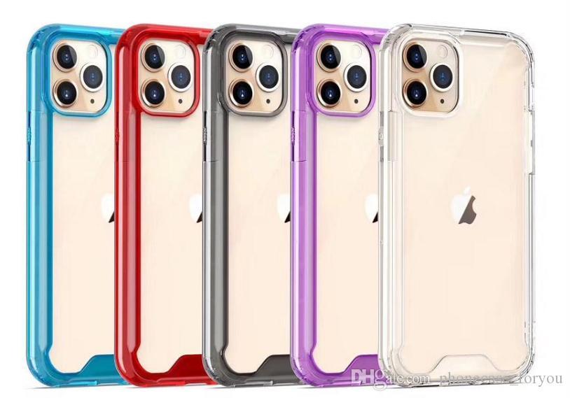 Für 2019 NEW Iphone 11 Pro Max XR XS MAX X Samsung A10S A20S A10E S10 Fall Qualitäts-freier Stoß- Abdeckung Acryl Auto PC Hard Cases