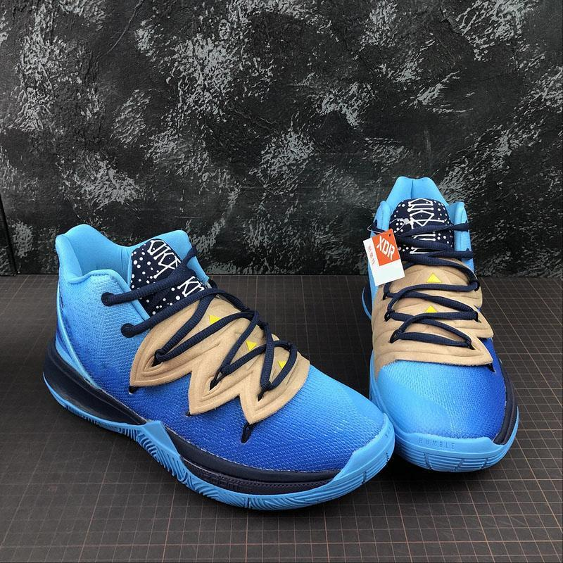 Newest Authentic Concepts x Kyrie 5 Graffiti Keep Sue Fresh Basketball Shoes Blue Men Sports Sneakers With Box