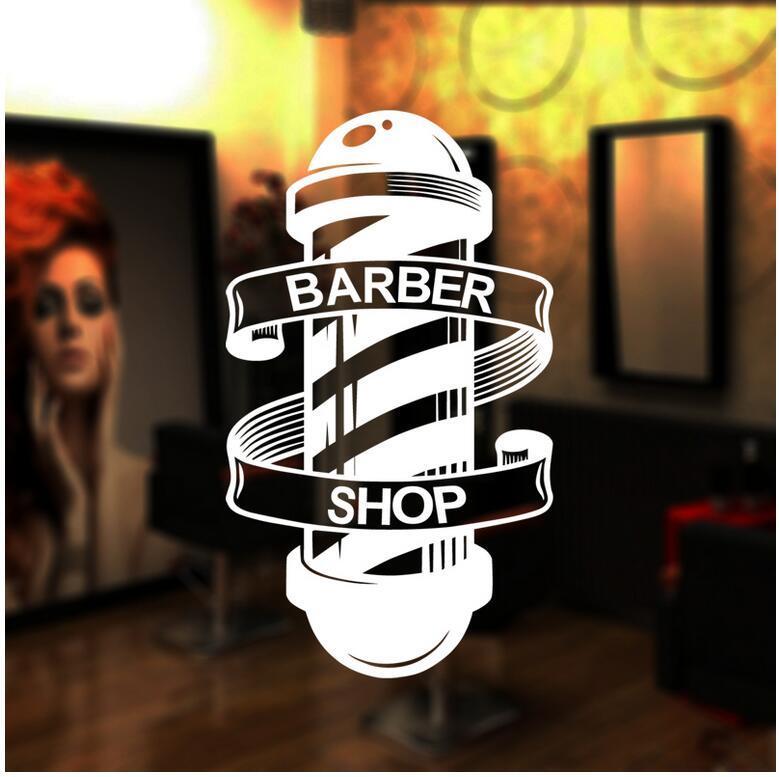 Barber Shop Sticker Özelleştirilmiş Chop Ekmek Çıkartması Posterler Vinil Duvar Sanatı Dekor, Windows Dekorasyon Saç kesimi Tıraş Cam Çıkartmaları