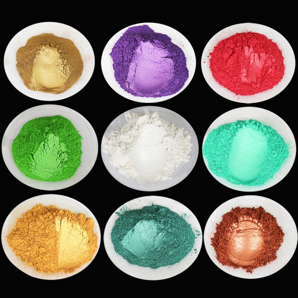 Lot Color DIY Healthy Natural Mineral Mica DIY Pigment Colorant Makeup Eyeshadow Soap For Lips Make Up