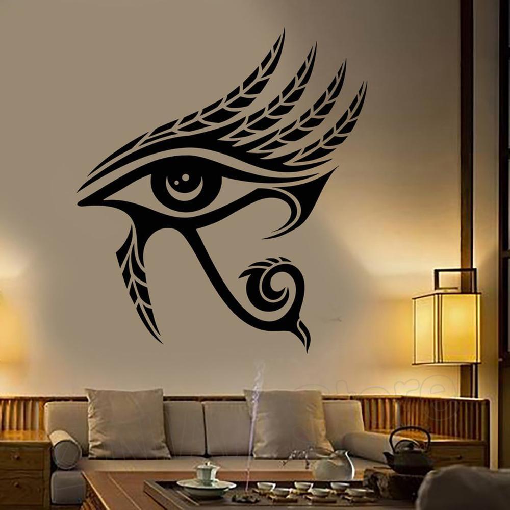 Eye Of Horus Egypt Symbol Wall Art Decals Home Interior Decor Living Room Egyptian God Vinyl Wall Stickers Bedroom Decorate