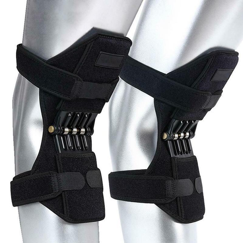 1 زوج منصات الركبة تنفس تسلق قوة الركبة دعم قوة الركبة المشتركة مثبت الوسادة مطاطا المثبت الداعم