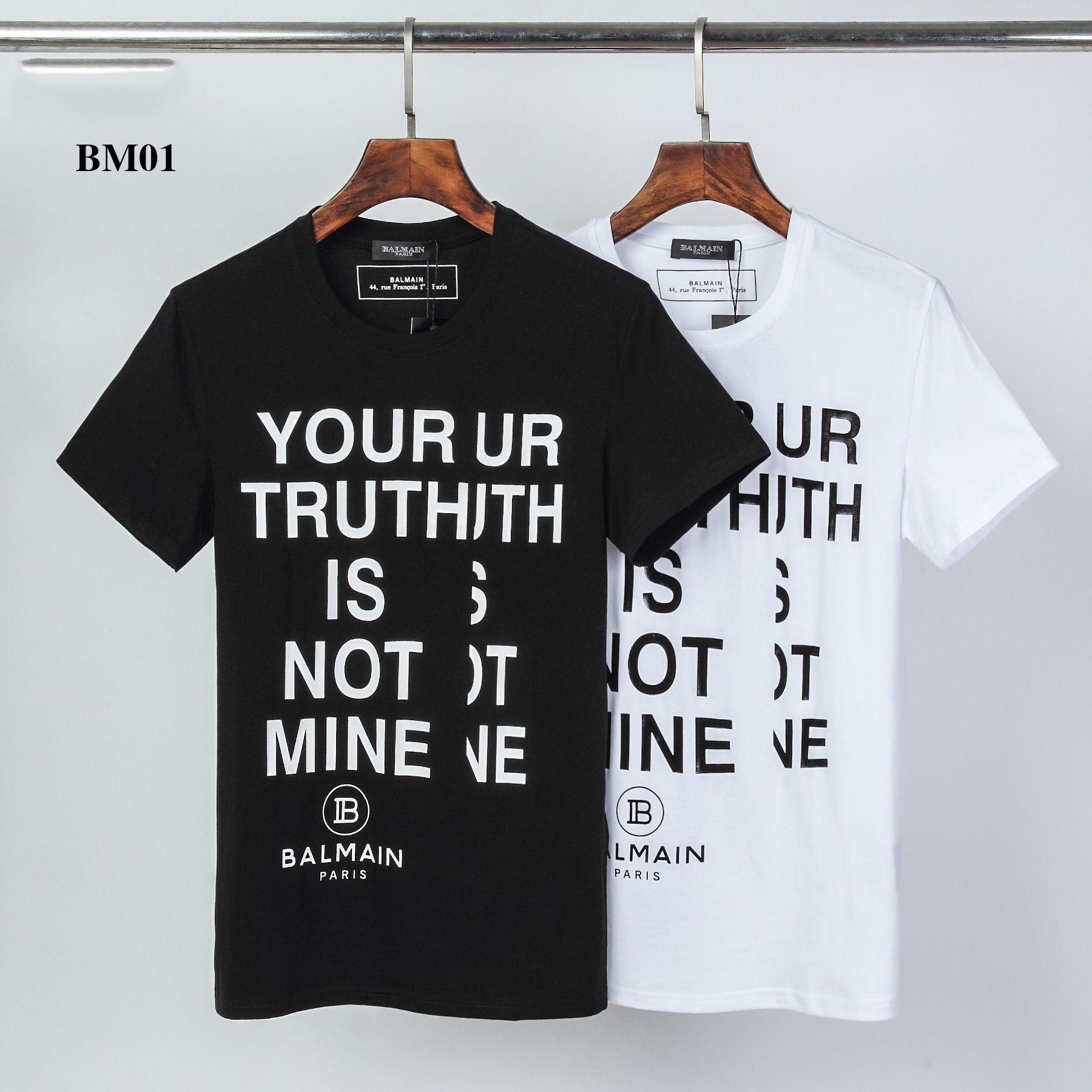 BM01 Designershirts Homens Mulheres Verão Novo Luxo T-shirt Mens Brandshirts manga curta letra impressa Mens Top Tees Streetwear 2020570K