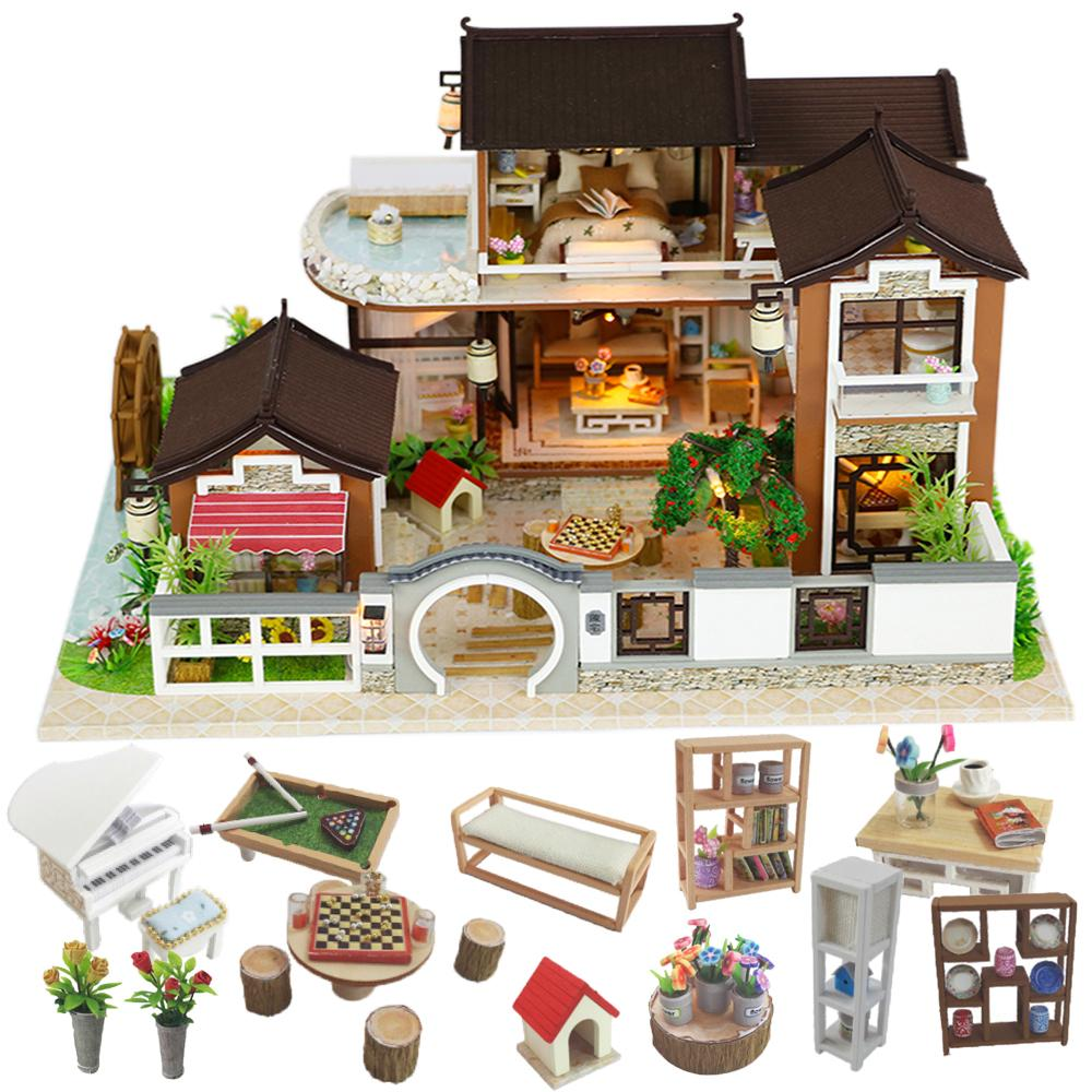 Box Theatre Dollhouse Furniture Miniature Toy DIY miniature Doll house Furniture
