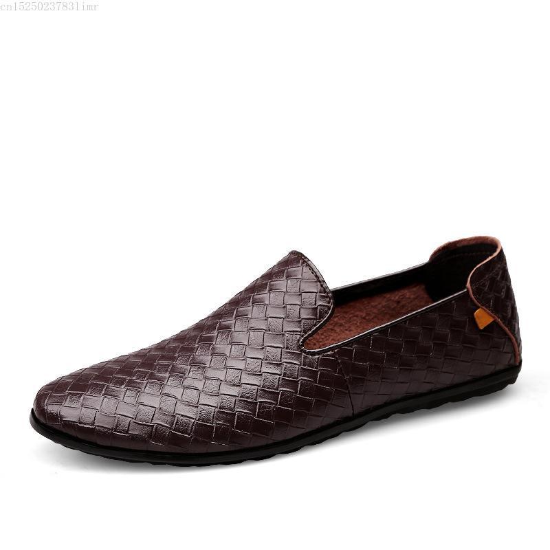 2020 Herren Schuhe Braid Leder-beiläufige Fahren Oxfords Schuhe Herren Loafers Mokassins Italienisch für Wohnungen